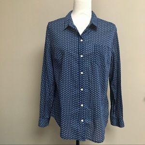 Old Navy navy buttondown shirt in floral print